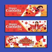 bannière de fête de la liberté du canada vecteur