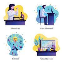 illustration vectorielle de science concept design vecteur