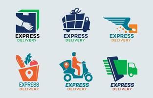 ensemble de logo de service de livraison vecteur