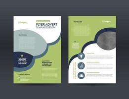 conception de prospectus d'entreprise ou conception de prospectus et de dépliants ou conception de brochures de feuilles de marketing vecteur