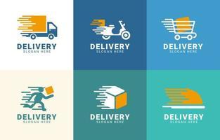 collection de logo de service de livraison vecteur