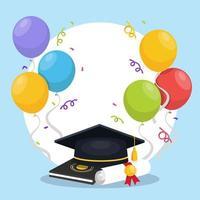 fond de célébration de remise des diplômes vecteur