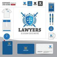 logo de droit, cabinet d'avocats, cabinet d'avocats, modèle d'identité d'entreprise logotype de droit vecteur