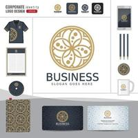 modèle d'identité d'entreprise logo abstrait vecteur