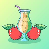 Vecteur de cidre de pomme fraîche