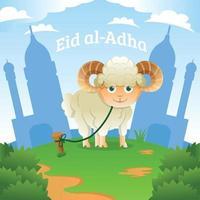 conception de célébration eid al-adha vecteur