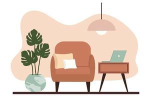 intérieurs d'appartements élégants dans un style scandinave avec un décor moderne vecteur