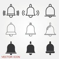 vecteur d & # 39; icône de cloche
