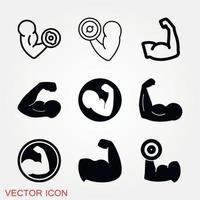 vecteur d & # 39; icône biceps
