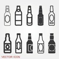 icône de bouteille de bière vecteur