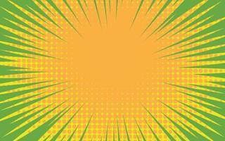 vitesse de zoom de la bande dessinée jaune vecteur