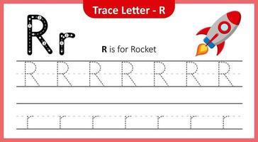 trace lettre r vecteur