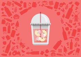 Illustration de boisson énergisante rafraîchissante de cidre de pomme vecteur