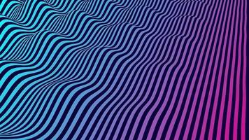 fond de vecteur abstrait vibrant avec des lignes parallèles ondulantes bleues et violettes