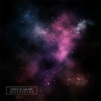 Vecteur de fond abstrait galaxie sombre