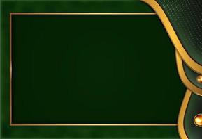 papier coupé fond d'or de luxe avec style abstrait 3d de texture en métal vert vecteur