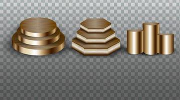 collection de podiums en or vecteur