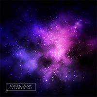 Fond abstrait galaxie coloré brillant vecteur