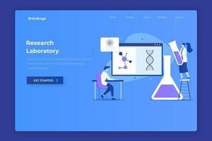 page de destination illustration du laboratoire de recherche vecteur