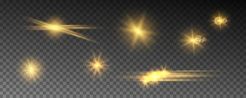 effets de lumière rougeoyante isolés vecteur