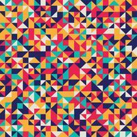 Abstrait coloré mosaïque géométrique vecteur