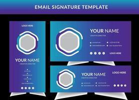 ensemble de modèles de signatures de courrier électronique professionnel vecteur