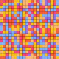 Fond de mosaïque géométrique colorée moderne vecteur