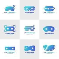 modèle de logo de réalité virtuelle vecteur
