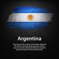 drapeau argentine avec fond noir vecteur