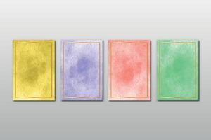 ensemble de faire-part de mariage peint à la main minimaliste créatif avec fond abstrait arts aquarelle vecteur
