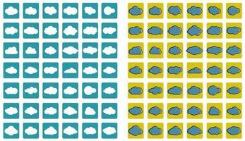 icônes d & # 39; art de ligne de nuages vecteur