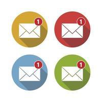nouvelle notification par e-mail vecteur