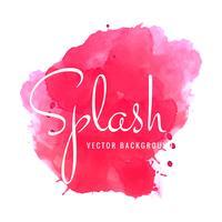 Fond abstrait splash aquarelle rose vecteur