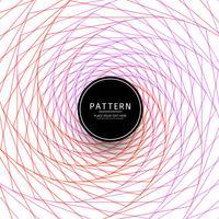 Motif de lignes de tourbillon coloré abstrait