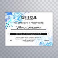 Illustration vectorielle de certificat abstrait design modèle vecteur