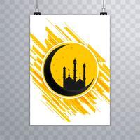 Vecteur de conception de brochure islamique abstraite Eid mubarak