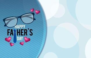 fond de minimalisme fête des pères avec cravate et lunettes vecteur