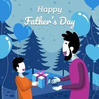 concept de fond de bonne fête des pères vecteur