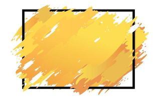 fond jaune de pinceau aquarelle vecteur