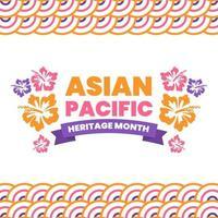 concept de fond du mois du patrimoine asiatique pacifique vecteur