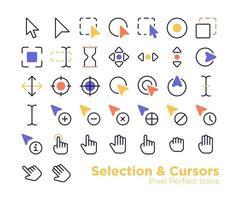 icônes de curseurs de sélection vecteur