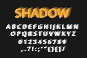 texte d'effet d'ombre sur fond sombre vecteur