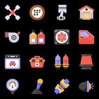 icônes de service de réparation automobile vecteur