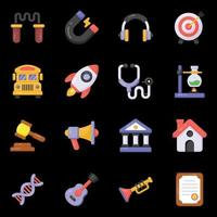 icône de l'éducation et des outils vecteur