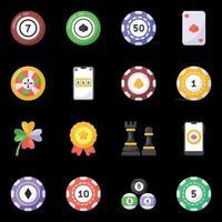 éléments de jeux de casino vecteur