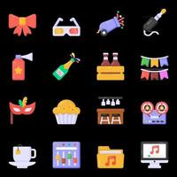 icônes de fête et d & # 39; équipement vecteur
