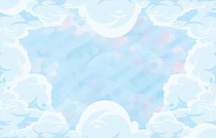 fond nuageux dynamique vecteur