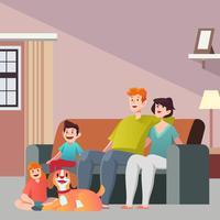 Famille de chien vecteur