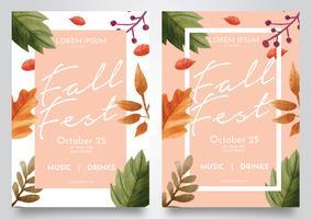 Conception de vecteur d'automne Fest Fest