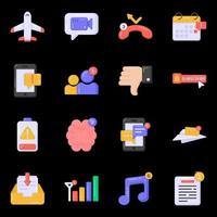 notifications et icônes d'avertissement vecteur